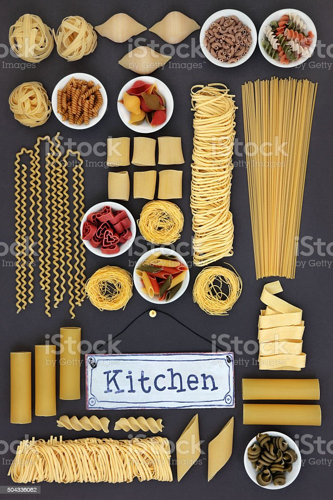 Dried Pasta Sampler stock photo
