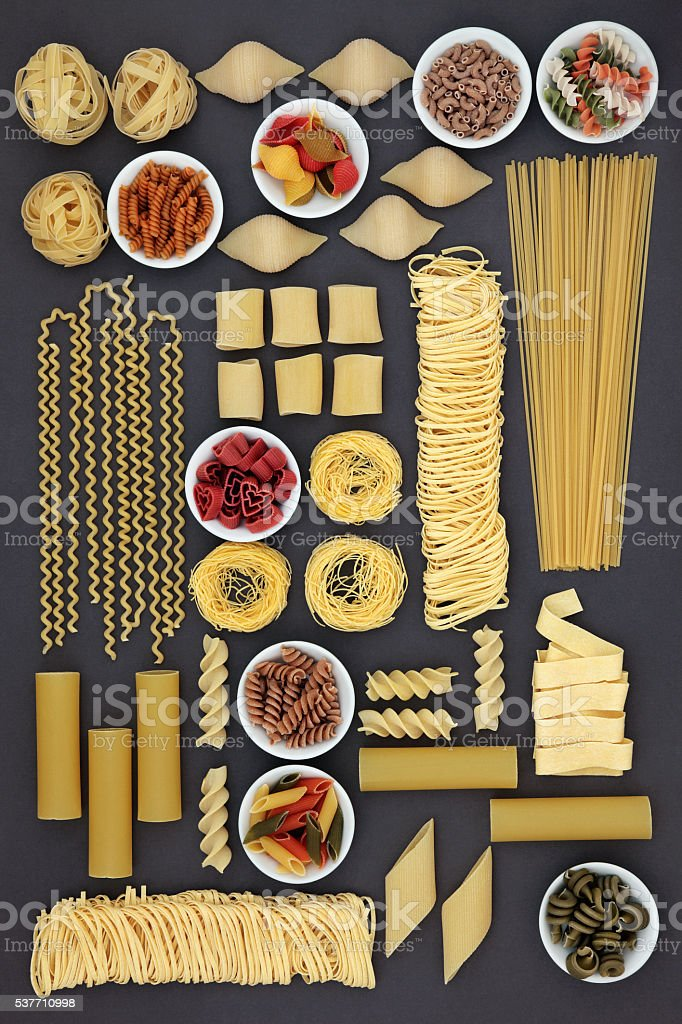 Dried Pasta Selection stock photo