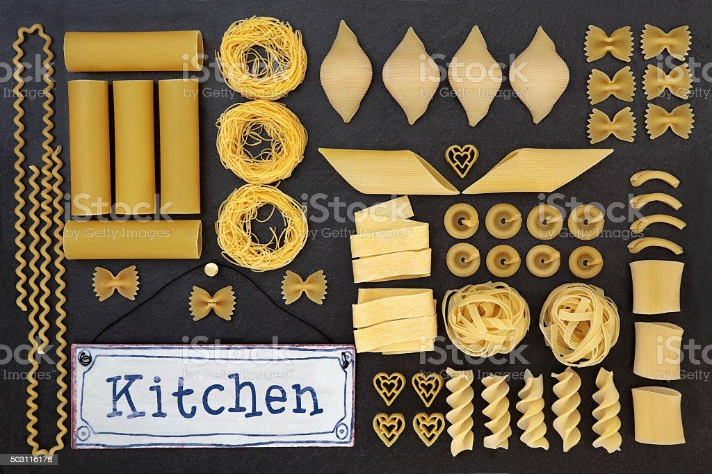 Dried Pasta Varieties stock photo