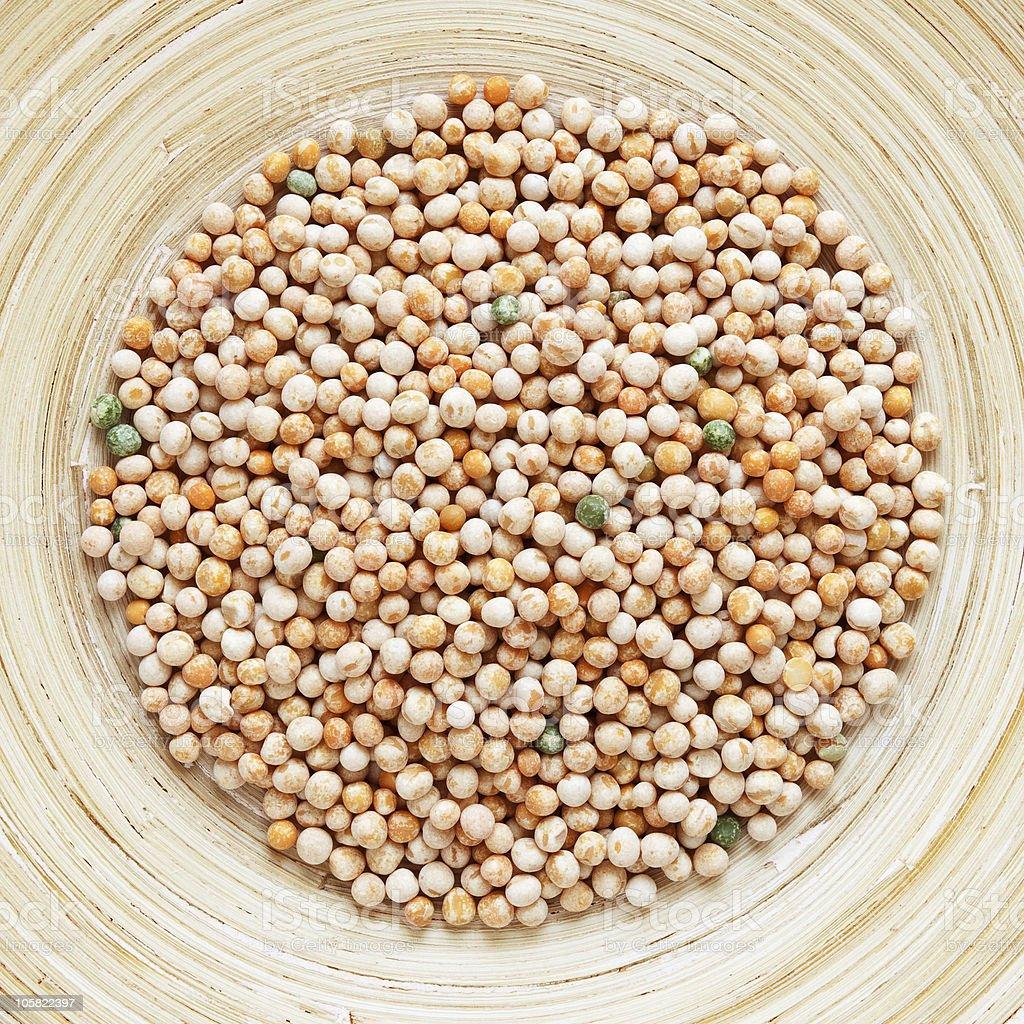 dried peas stock photo