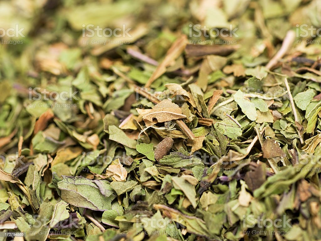 dried peppermint leaves royalty-free stock photo