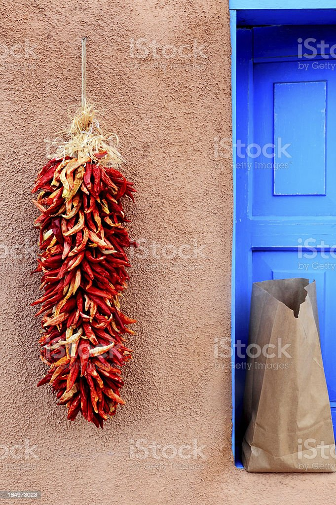 Dried peppers and candelaria royalty-free stock photo