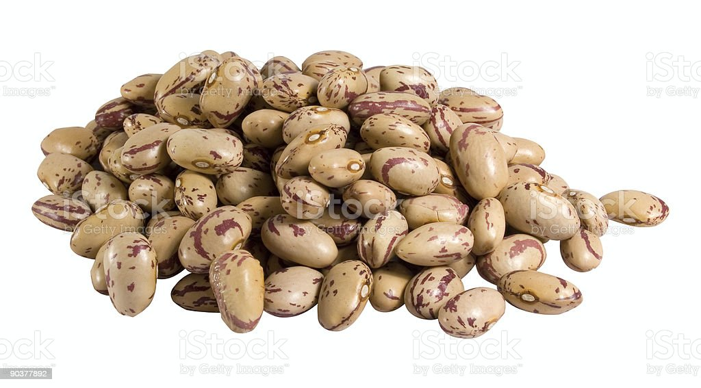 Dried pinto beans stock photo