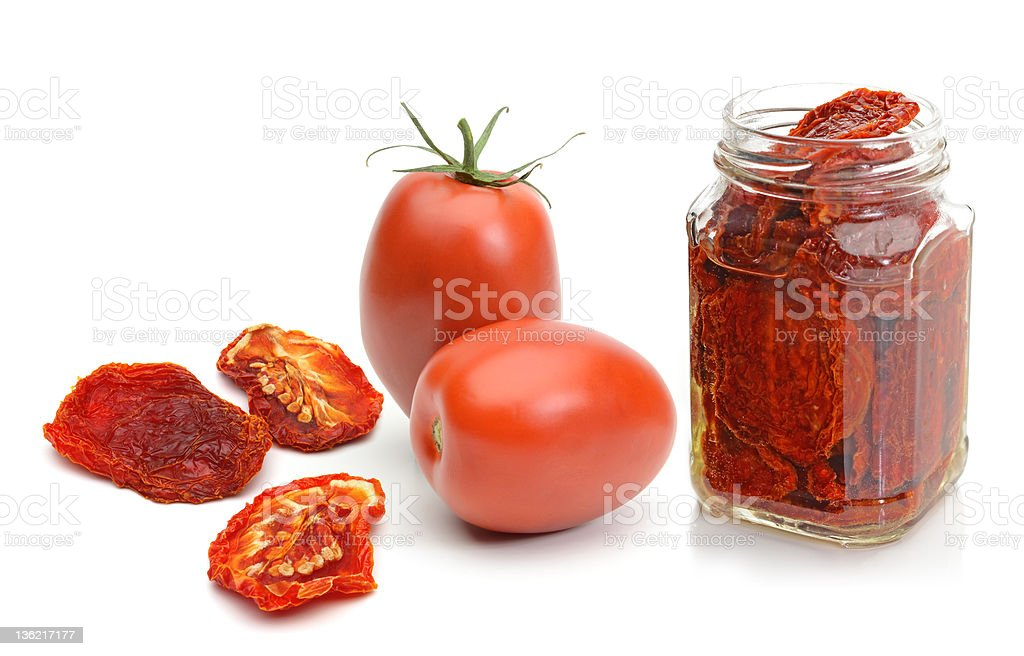 Dried Plum Tomatoes royalty-free stock photo