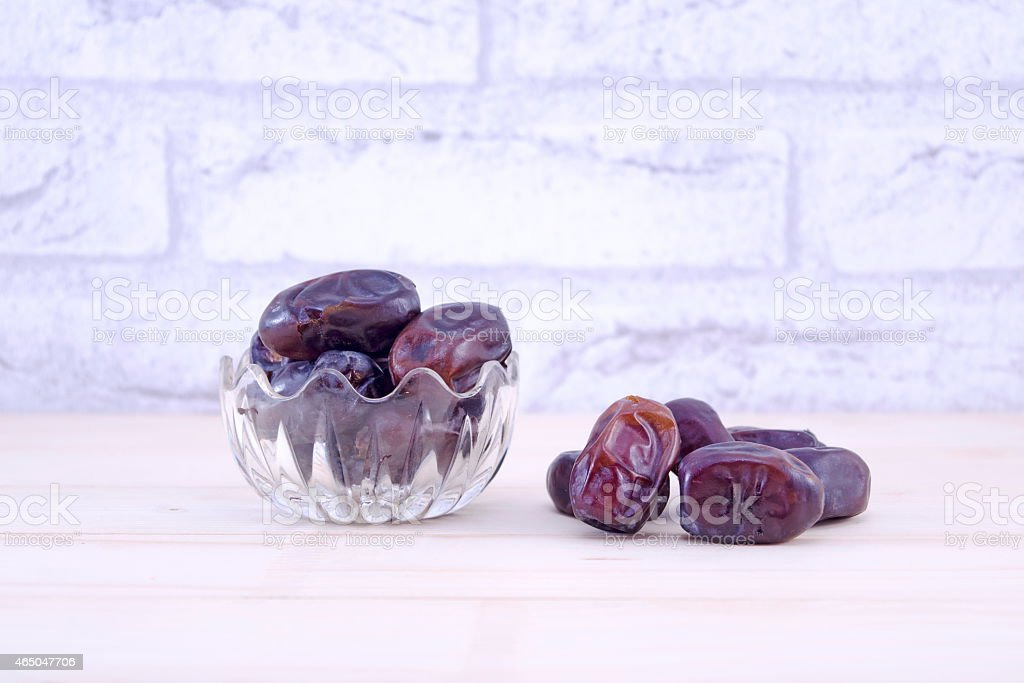 Dried plums on a table royalty-free stock photo