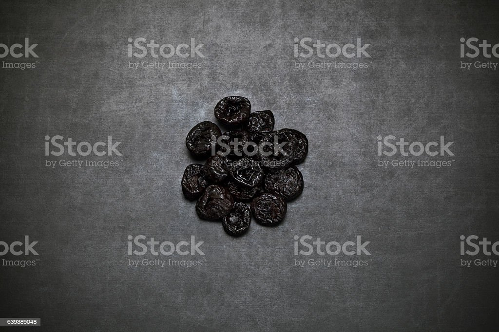Dried plums stock photo