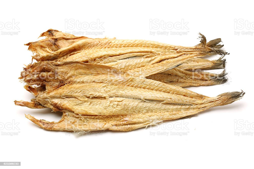 Dried Pollack stock photo