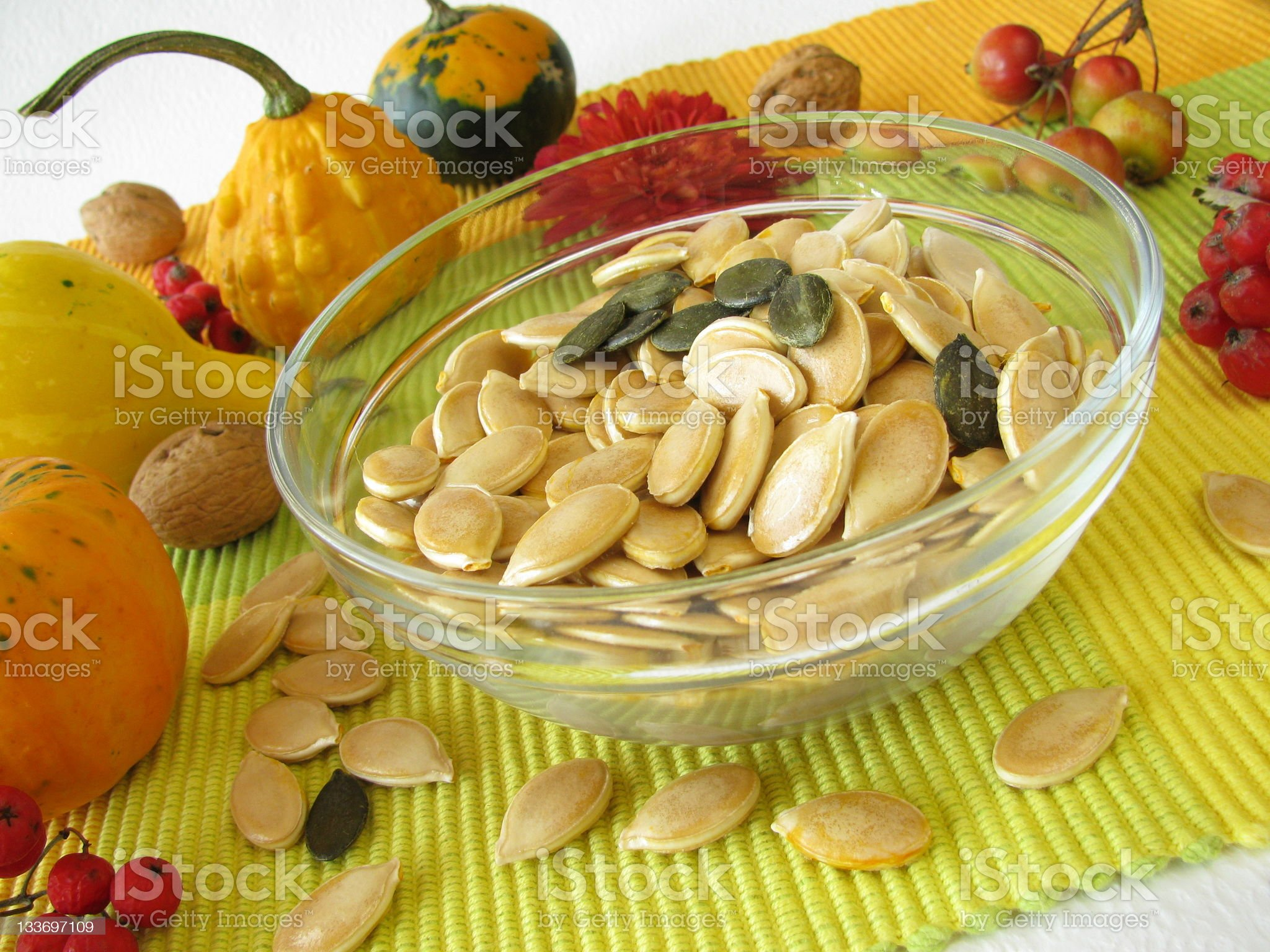 Dried pumpkin seeds royalty-free stock photo