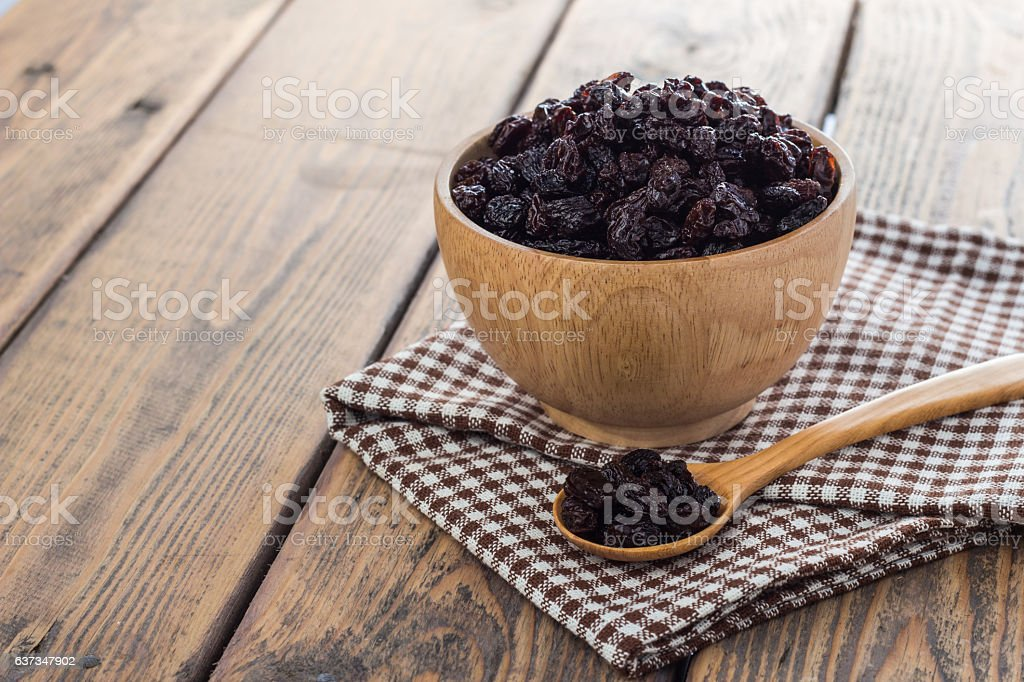 Dried raisins. stock photo
