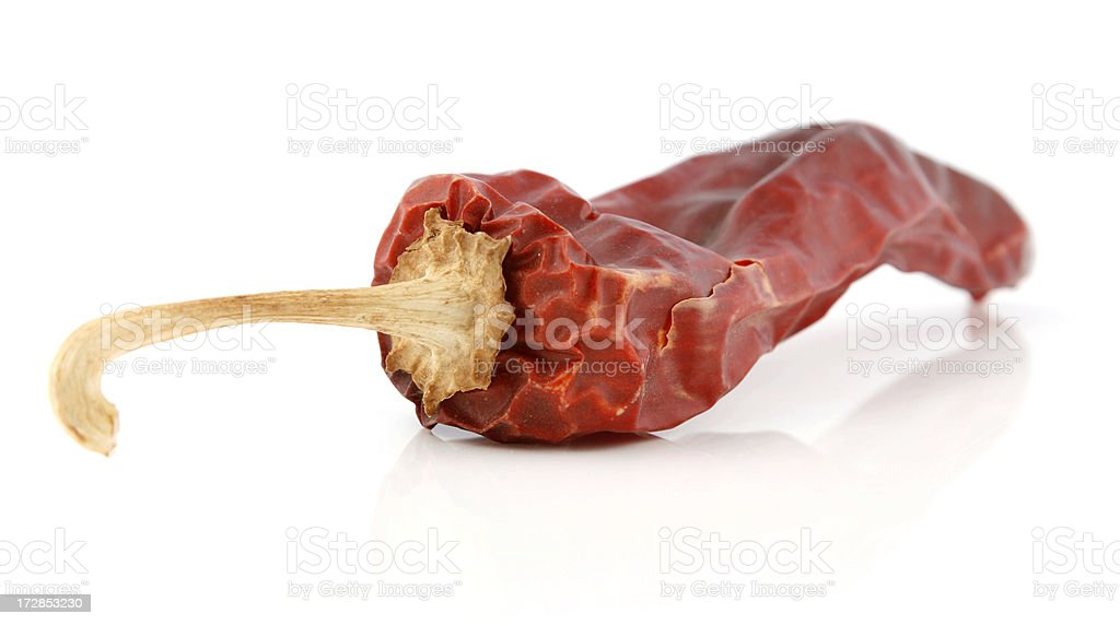Dried Red Chili Pepper Pod stock photo