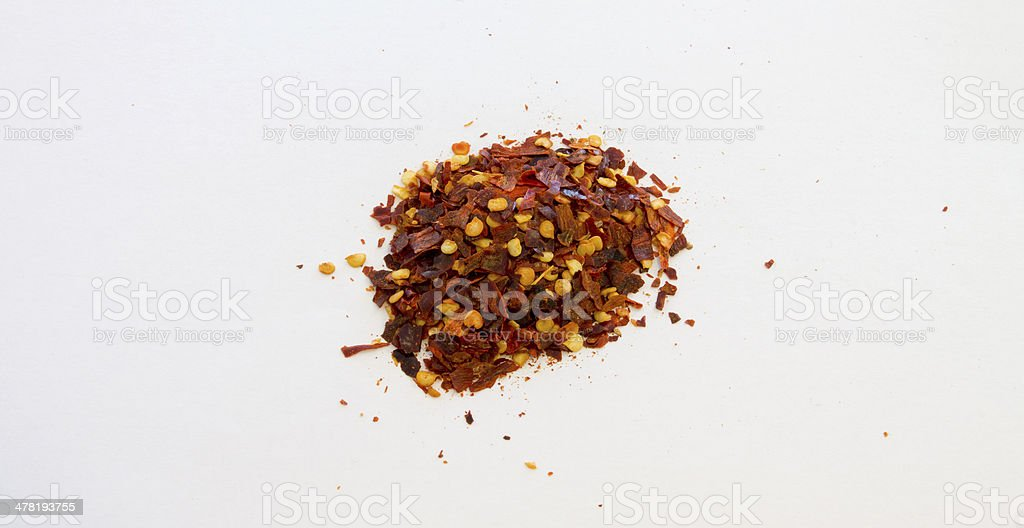 Dried Red Hot Chilli Flakes stock photo