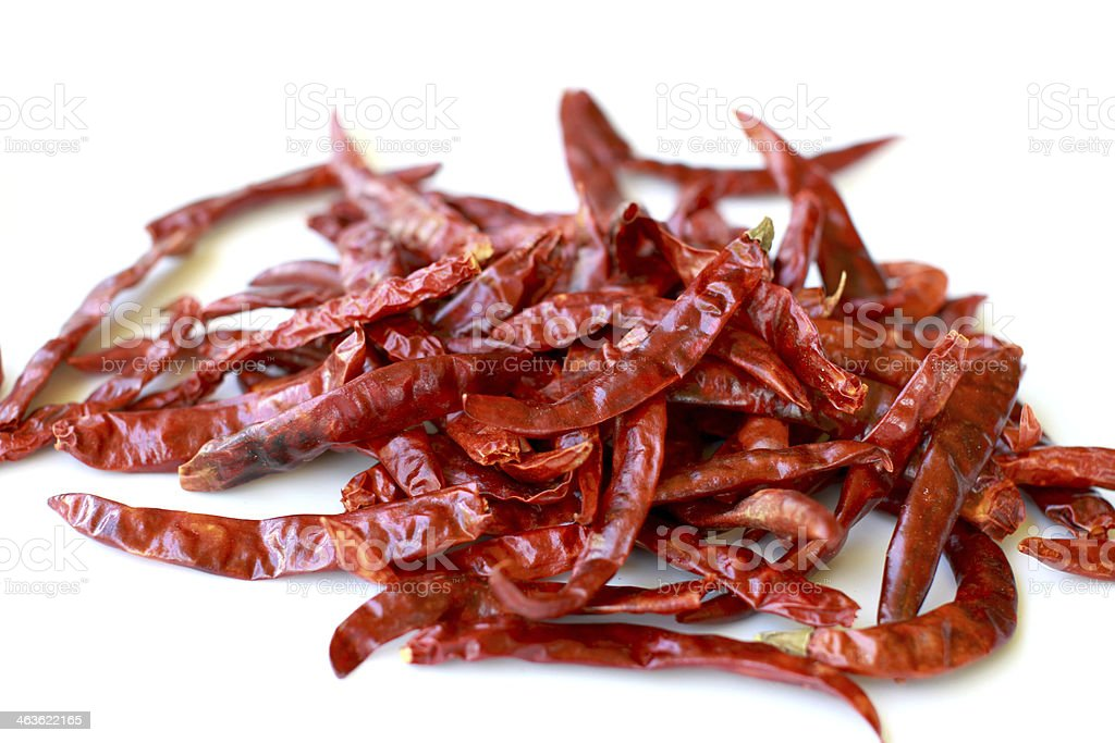 dried red hot chilli royalty-free stock photo
