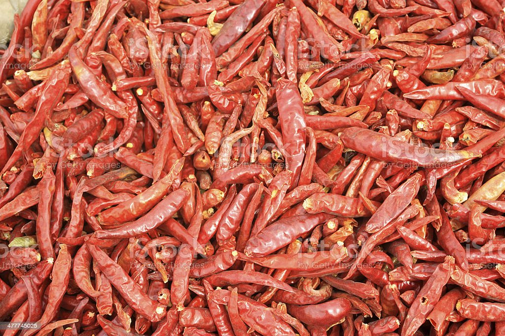 dried red pepper royalty-free stock photo