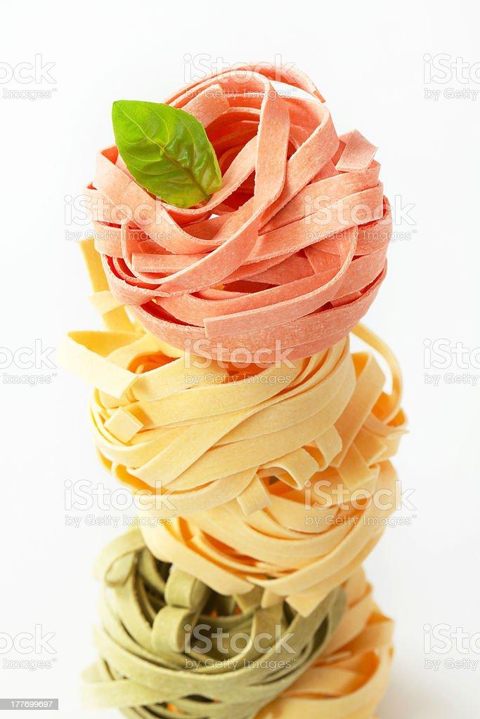 Dried ribbon pasta royalty-free stock photo
