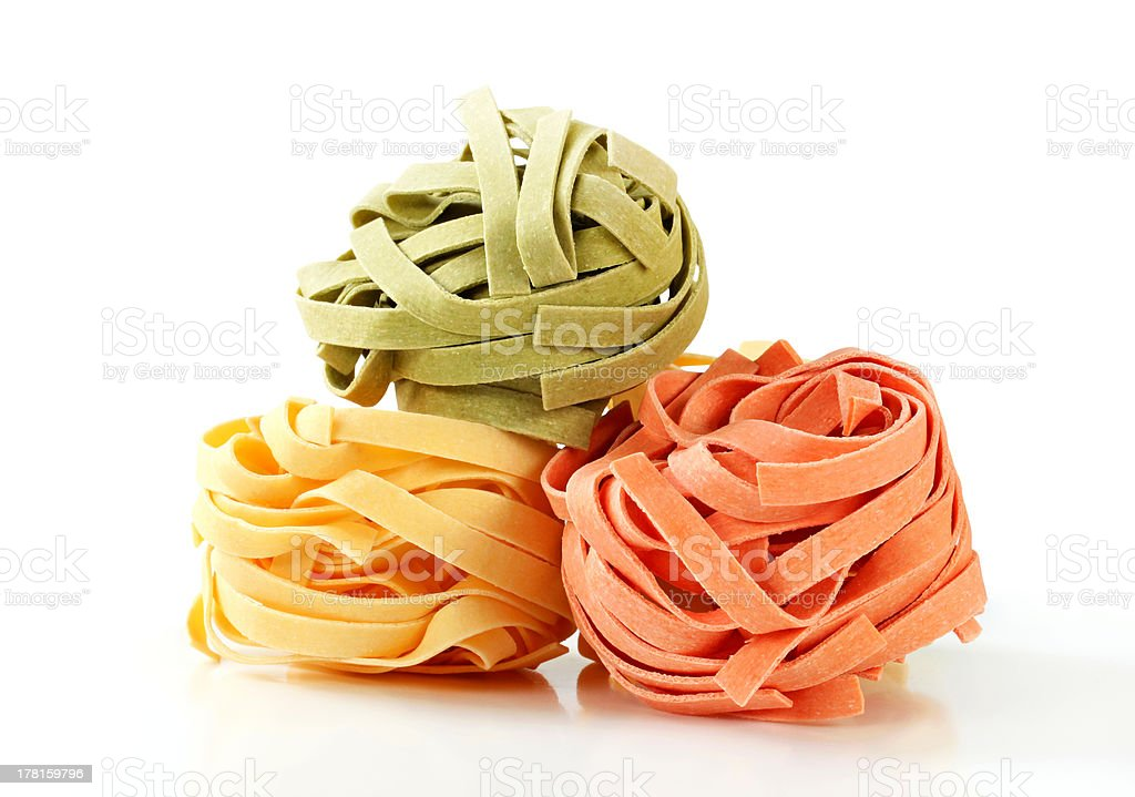 Dried ribbon pasta royalty-free stock photo