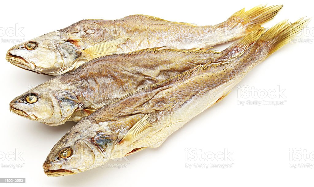 Dried salted fish royalty-free stock photo