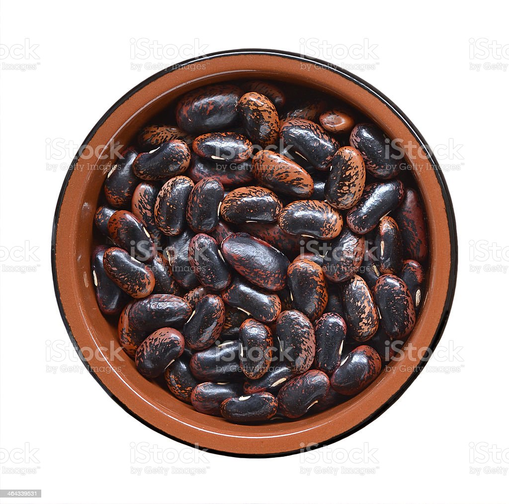 Dried Scarlet Runner Beans stock photo