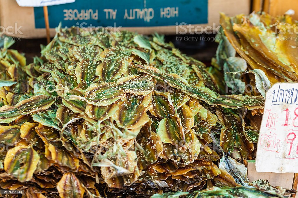 Dried seafood stock photo