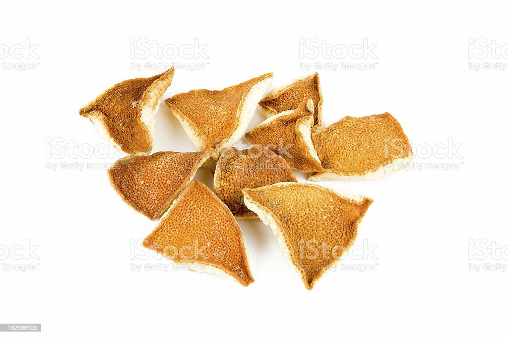 Dried seville orange peel royalty-free stock photo