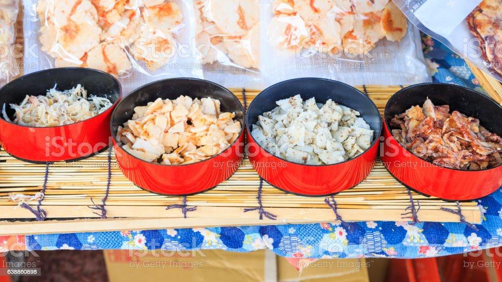 dried shredded sea food stock photo