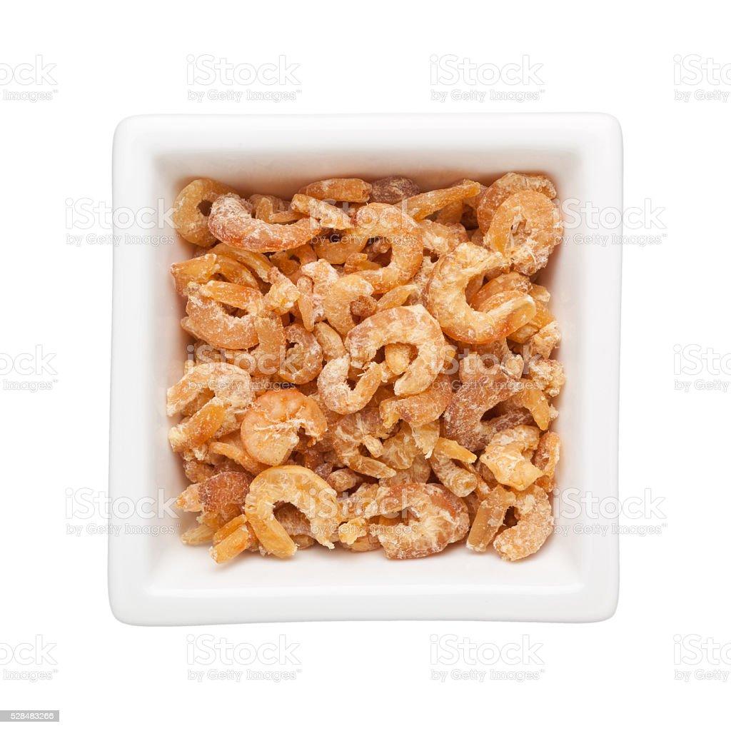 Dried shrimps stock photo