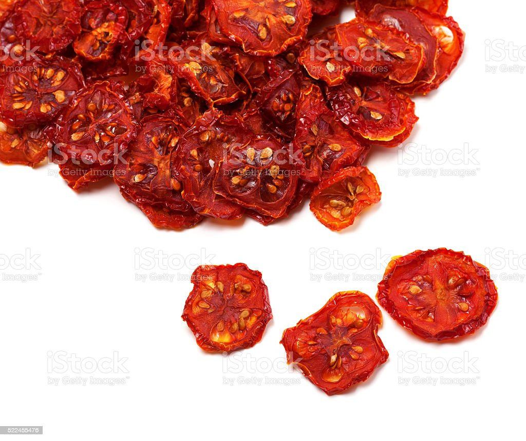 Dried slices of tomato stock photo