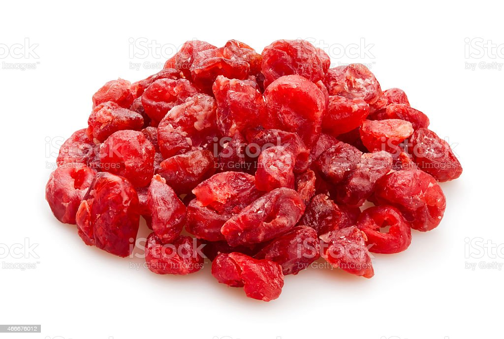 dried sour cherry stock photo