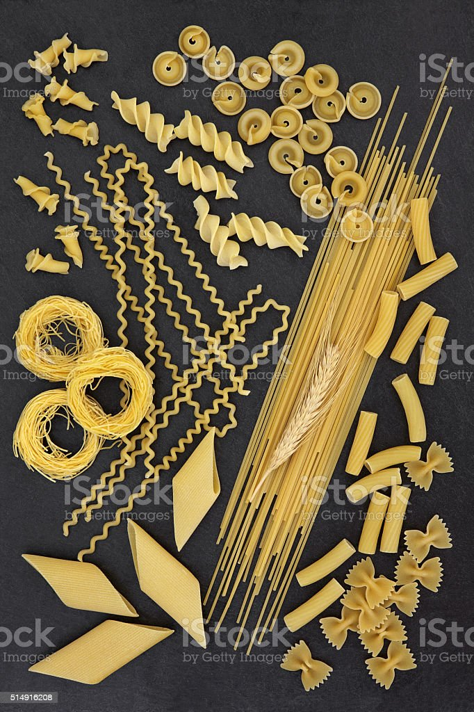 Dried Spaghetti Pasta Abstract stock photo