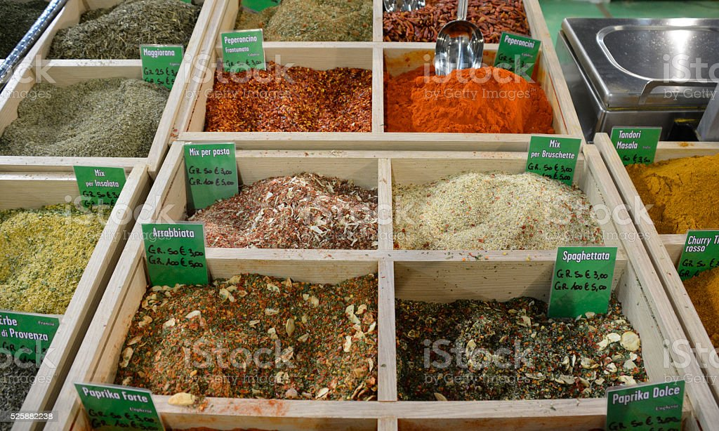 Dried Spice Mixes stock photo