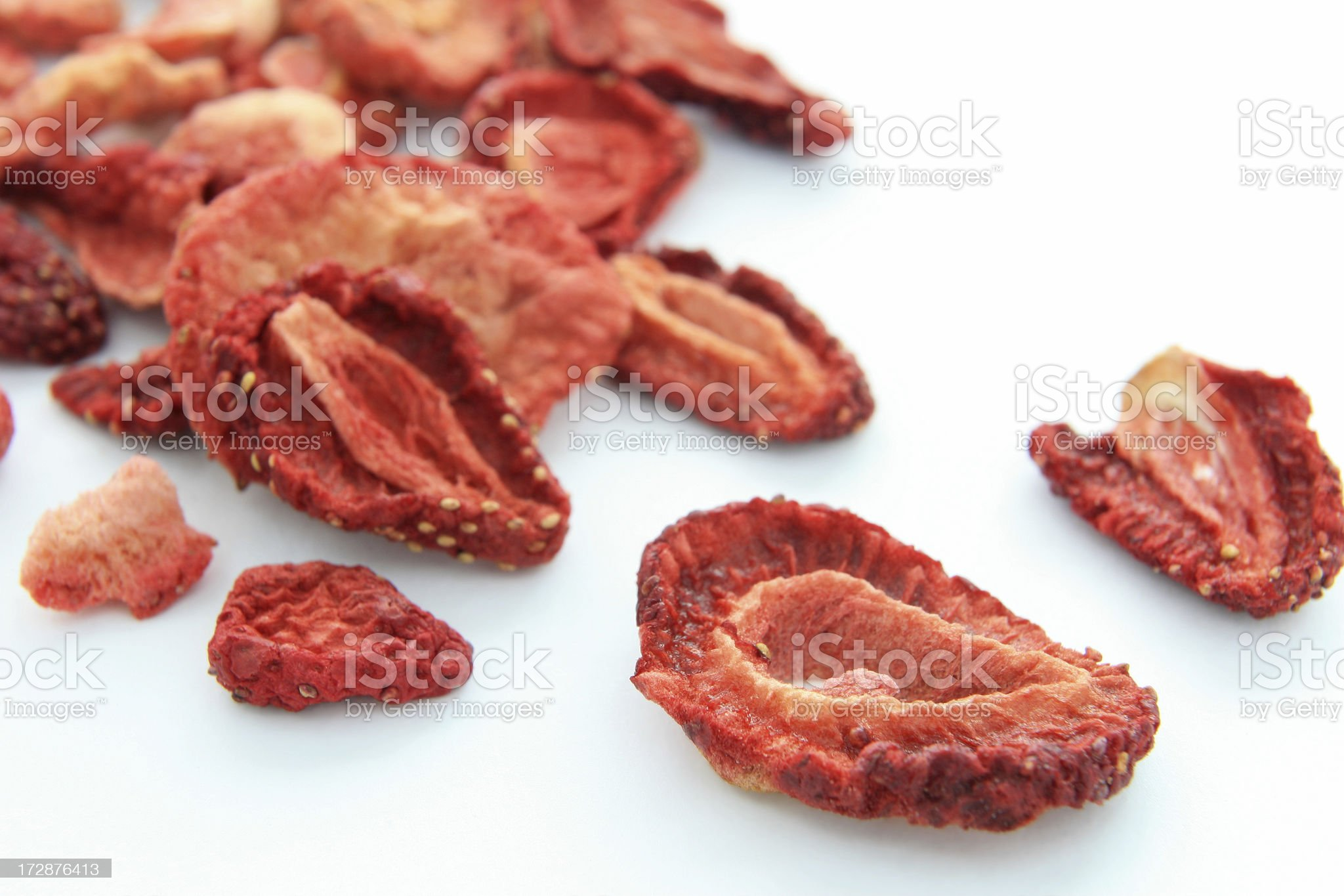 Dried srawberries. royalty-free stock photo
