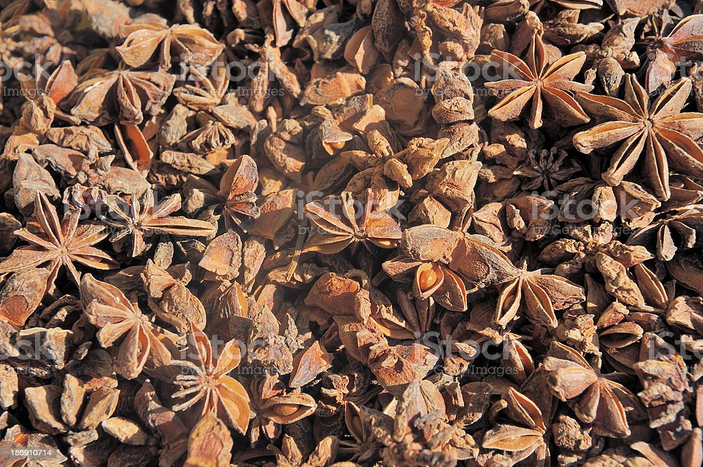 dried star anise seed royalty-free stock photo