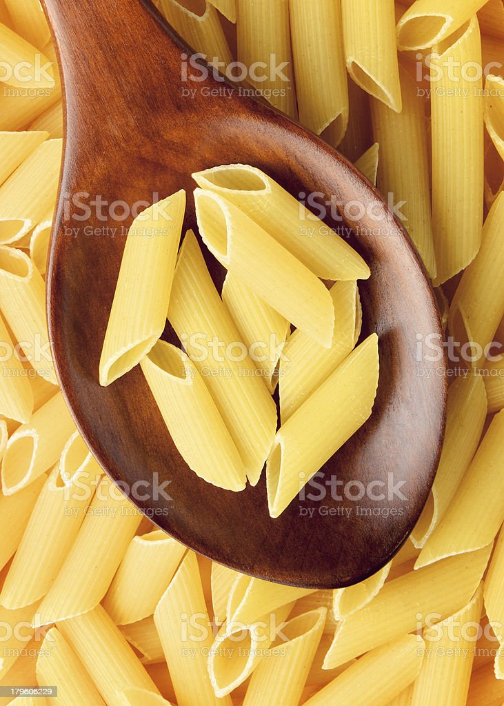 Dried penne rigate royalty-free stock photo