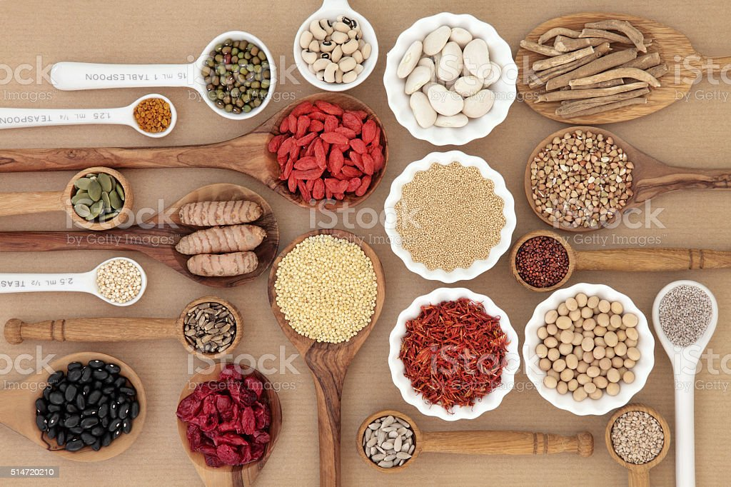 Dried Superfood Selection stock photo
