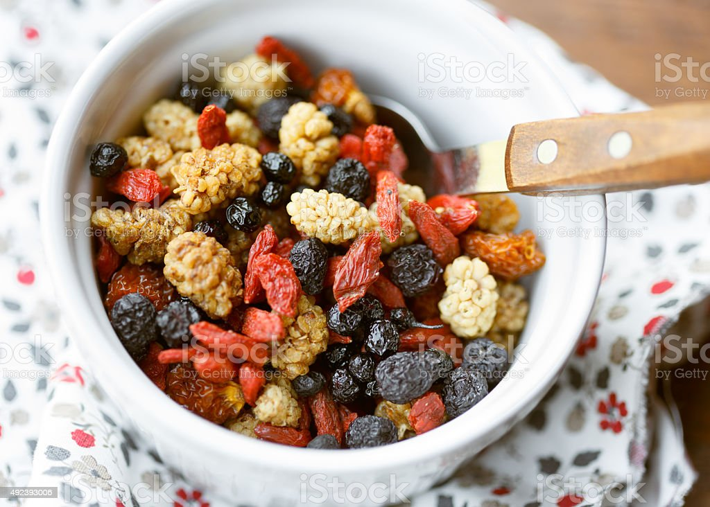Dried superfruits stock photo