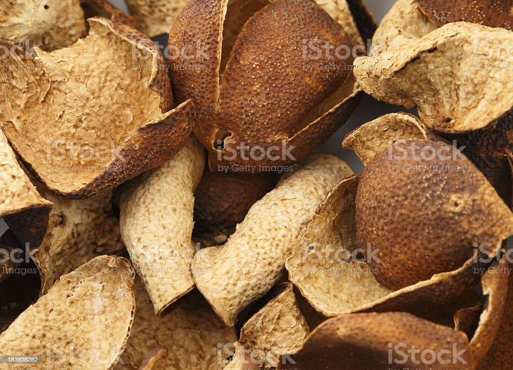 Dried tangerine peel royalty-free stock photo