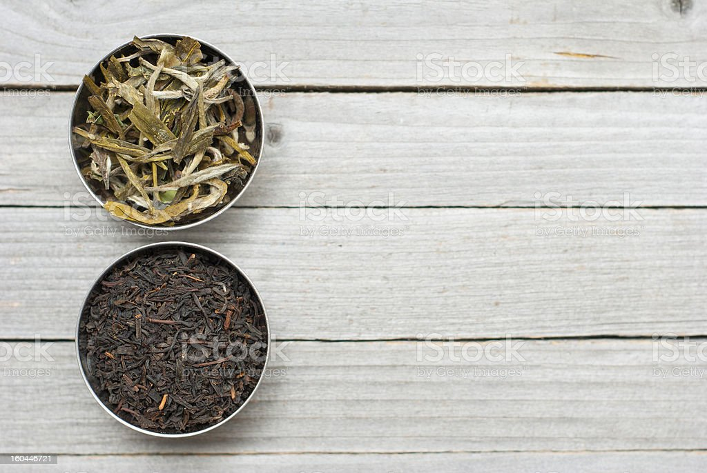 Dried tea leaves royalty-free stock photo