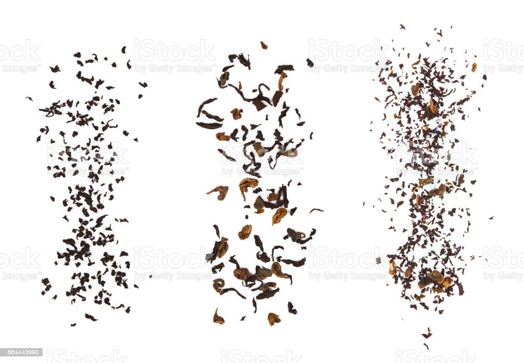 dried tea leaves stock photo