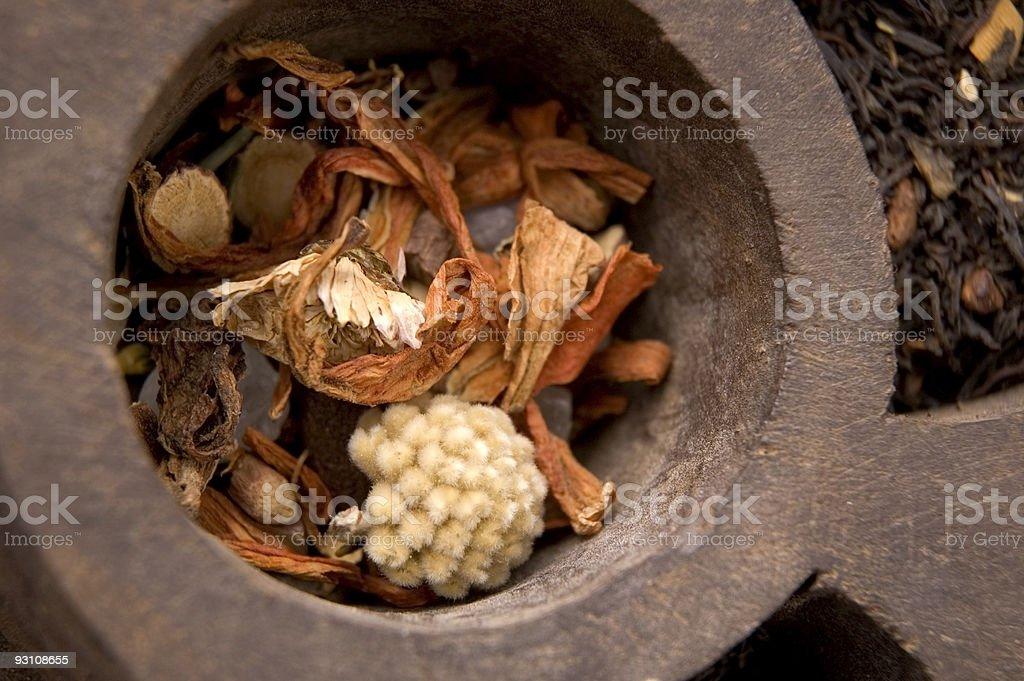 dried tea royalty-free stock photo