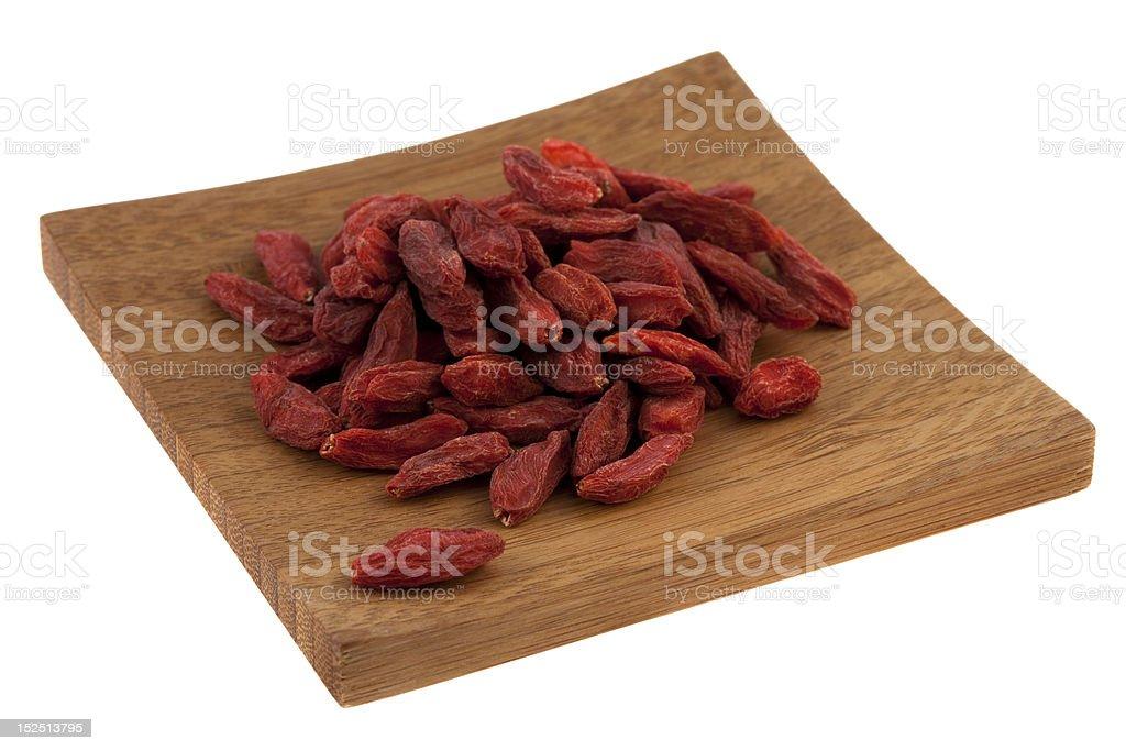 dried Tibetan goji berries (wolfberry) royalty-free stock photo