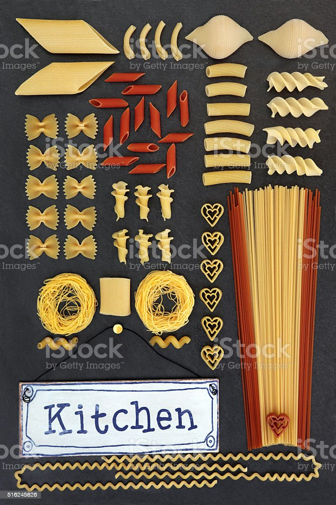 Dried Tomato and Wheat Pasta stock photo