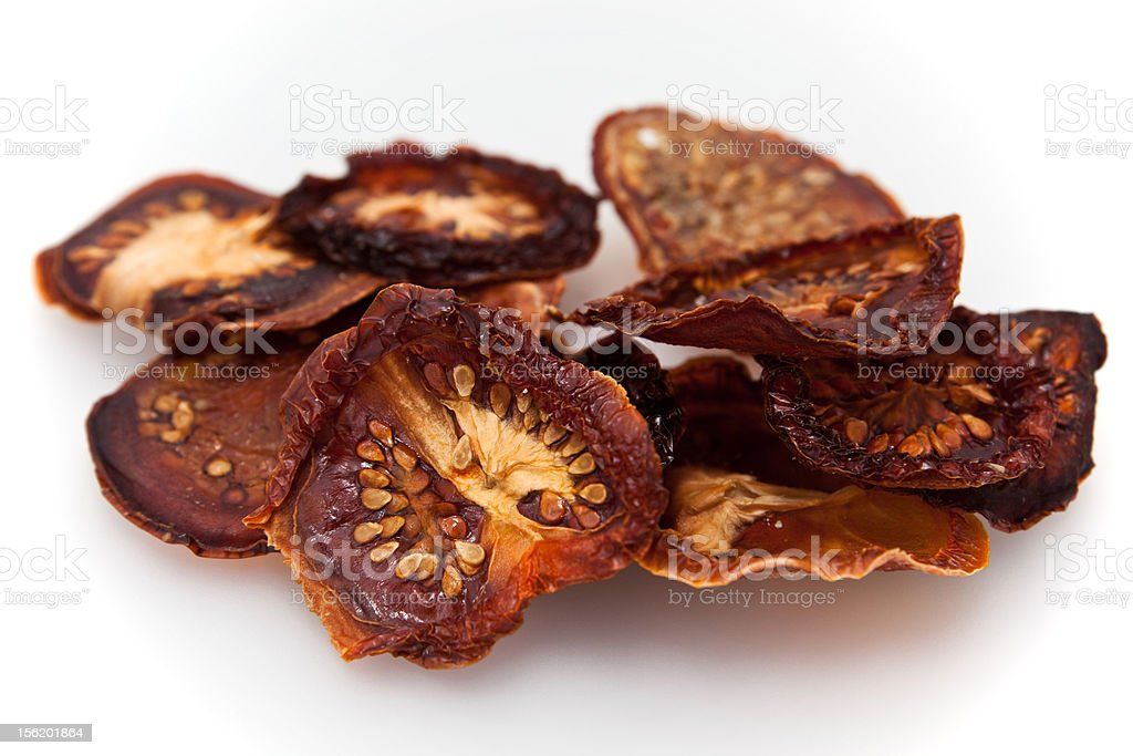 Dried tomato isolated royalty-free stock photo