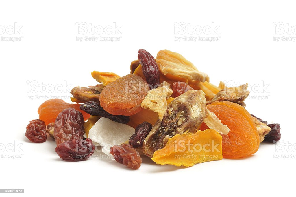 Dried Tropical Fruit Mix stock photo