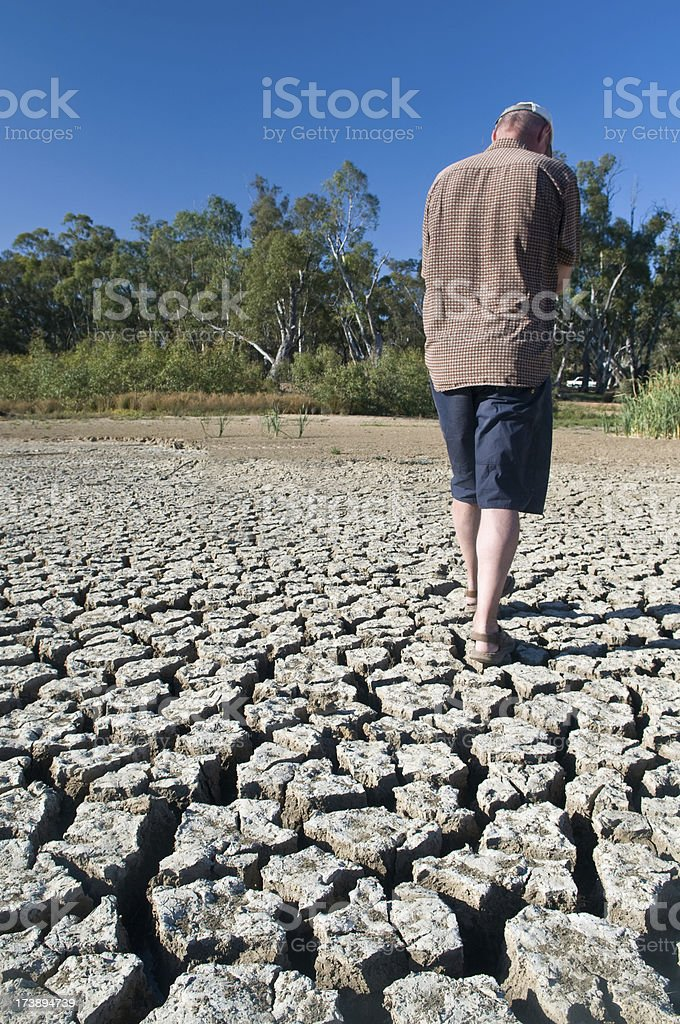 Dried up river bed royalty-free stock photo