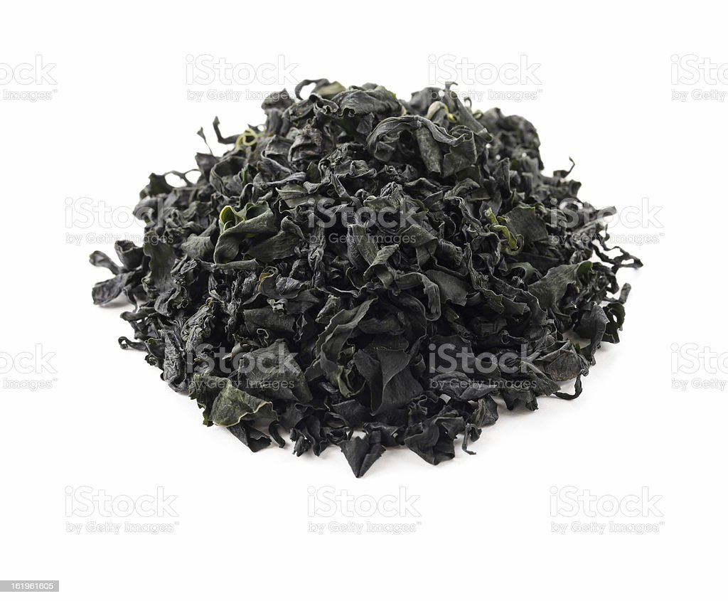 dried wakame seaweed royalty-free stock photo