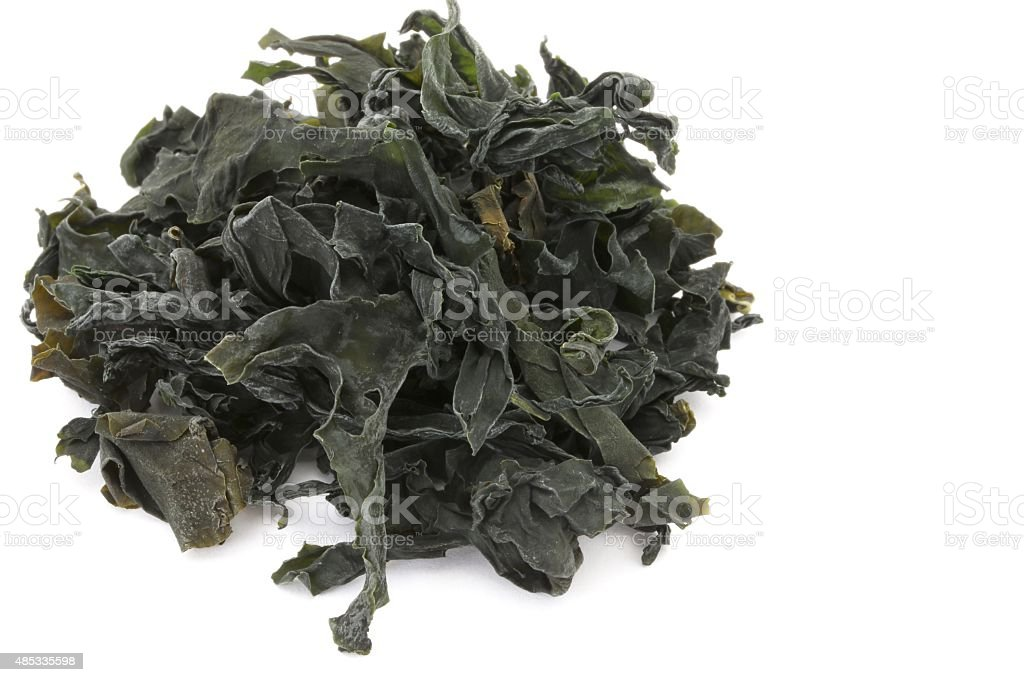Dried Wakame Seaweed stock photo