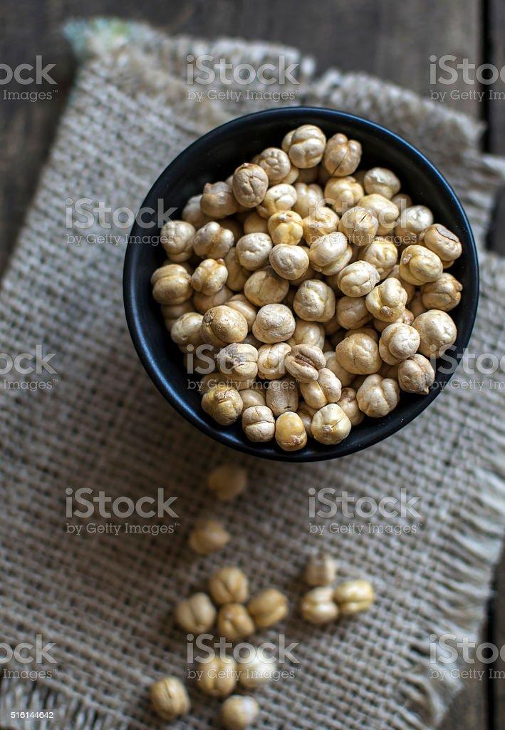 dried white chickpeas stock photo