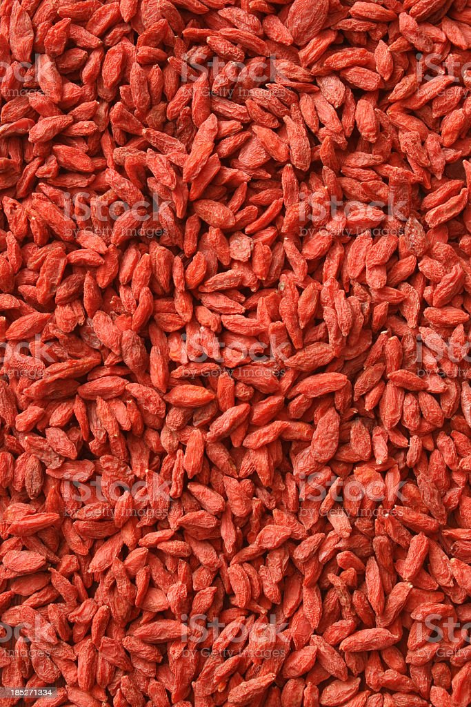 Dried wolfberries background stock photo
