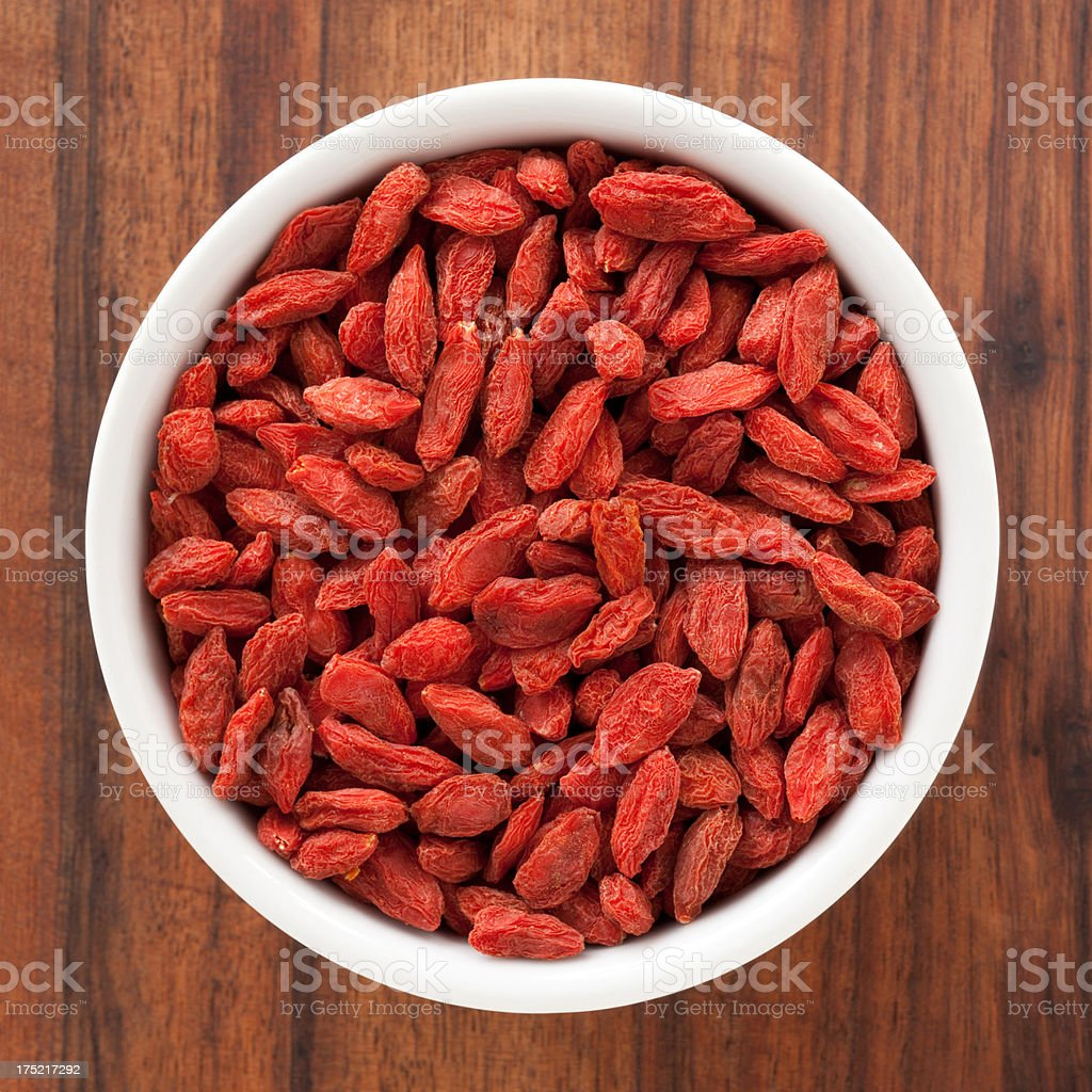 Dried wolfberries stock photo