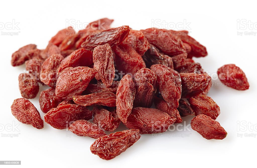 Dried wolfberries royalty-free stock photo