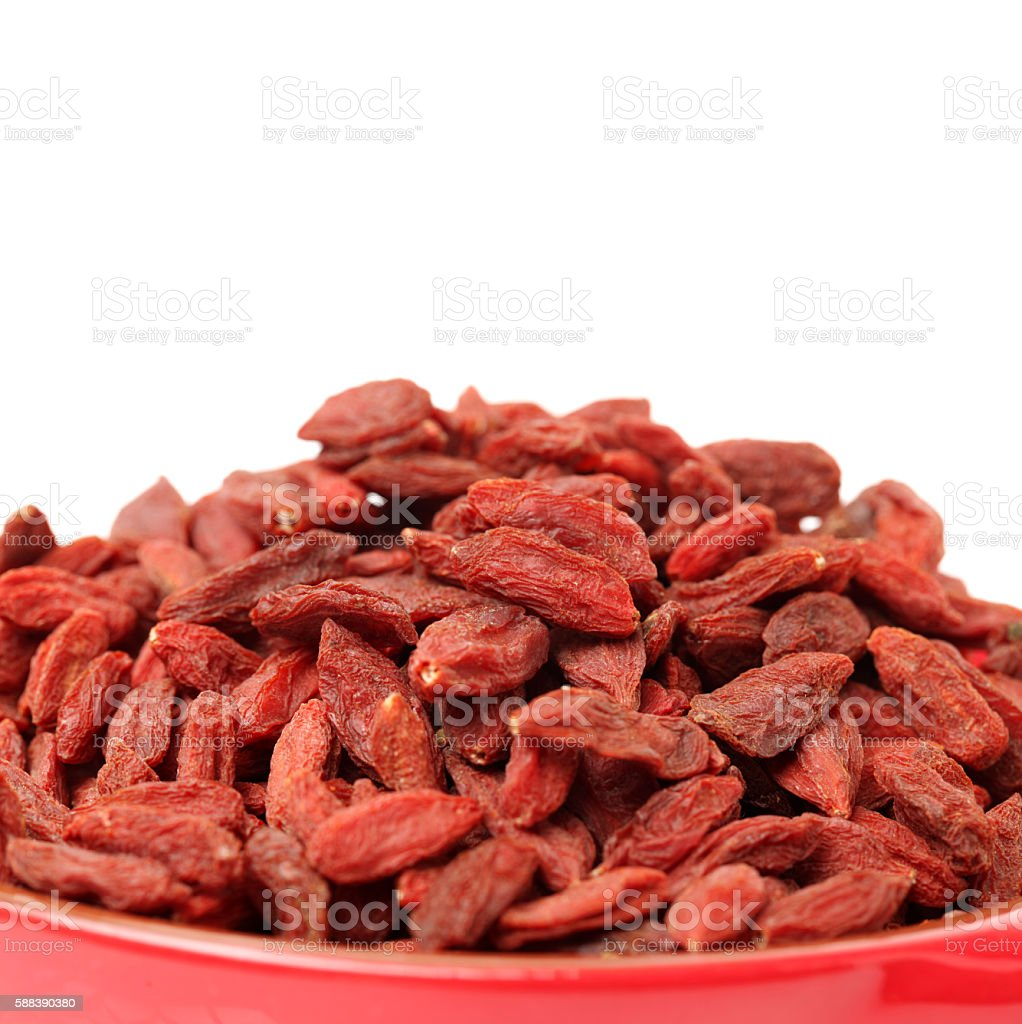 dried wolfberry fruit stock photo
